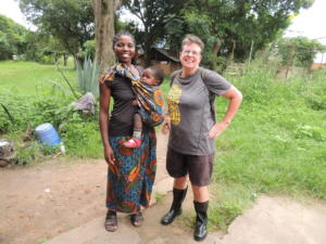 Kate Neely from RoundTrip with Tigress, beneficiary of our fence-building funding for Tikondane, Zambia