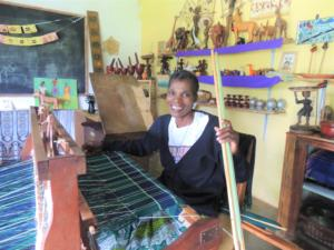 Weaver demonstrating their craft in Zambia
