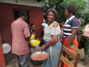 Lunchtime at Tikondane, Zambia