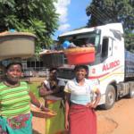 Women selling produce, Zambia