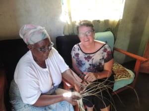 Traditional mat weaving, Tikondane, Zambia