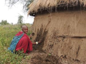 Housebuilding in Tanzania is done by women