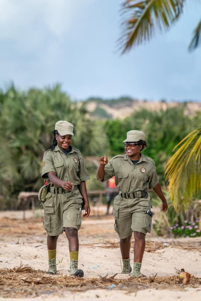 Sea-faring rangers from Bazaruto Archipelago National Park in Mozambique.
