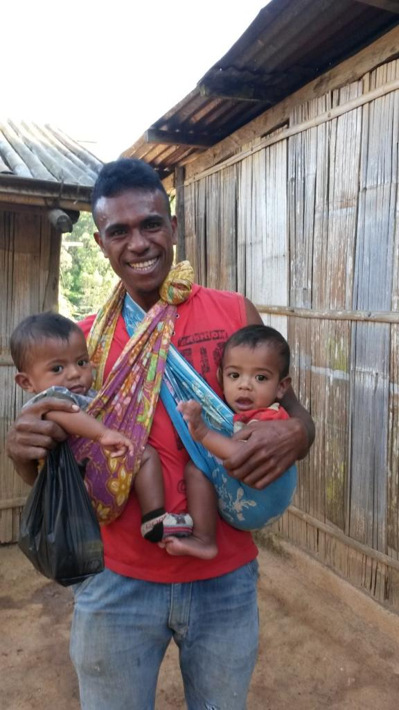 Timorese man and twins - gender norms